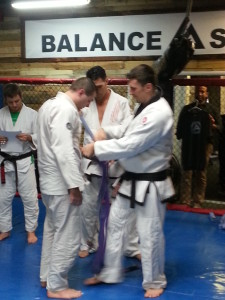 Steve Gets his Purple Belt