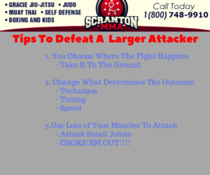 tips to defeat a larger attacker