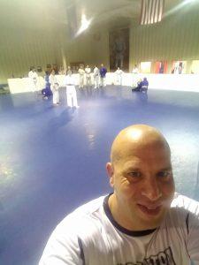 Tom takes a pic of the judo class at Scranton MMA